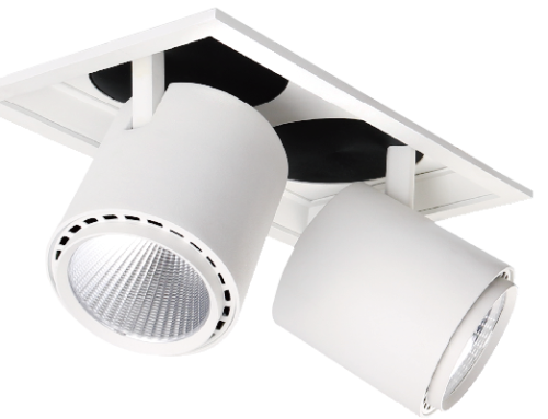 Aluminum Double-head Gimble Recessed Down Light KT6988